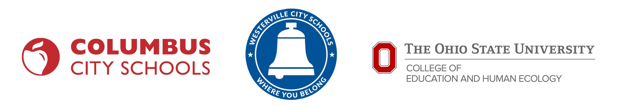 COLUMBUS CITY SCHOOL LOGO, WESTERVILLE CITY SCHOOLS LOGO, COLLEGE OF EDUCATION AND HUMAN ECOLOGY LOGO