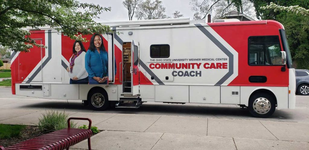image of the community care coach bus